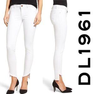 NWT DL1961 Emma Power Legging White Jeans, 29